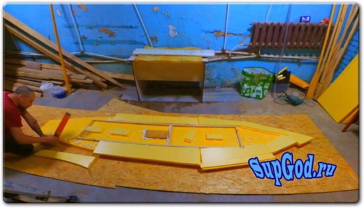 Самодельный SUP Board из пеноплекса